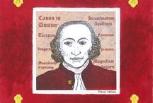 Pachelbel / Johann Pachelbel (1653 - 1706)German composer, teacher and organist of the Baroque period. Unfairly labelled a 'one hit wonder' he is nevertheless best known for his Canon in D.