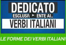 Le forme dei tempi italiani / Il verbo è una parola che può variare molto per trasmettere differenti tipi di informazione. É composto da due parti: a sinistra una parte che non cambia denominata RADICE e a destra una parte variabile denominata DESINENZA.