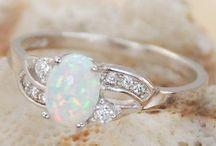 Opal (October) rings