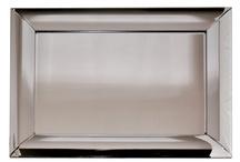 NEW LARGE Modern Decorative Rectangular Curved Bevel Frame Toledo Mirror