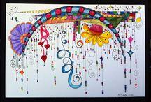 Dangles - zentangle- zenspiration