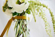 Gorgeous green arrangements!