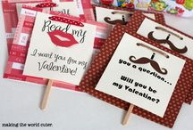 Valentine cards/foods
