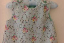 Daisymay handmade Dresses / Beautiful baby's top and bloomers for in pretty mint garden print fabric.
