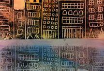 Art: Cities / kaupunkeja, rakennuksia,...