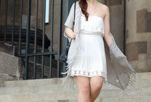 mcfashion: weißes Kleid und Fransen