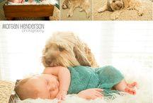 Niemowlęta i zwierzęta na fotografiach