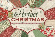 First Edition Perfect Christmas / Wonderfully nostalgic, the First Edition perfect Christmas collection features a selection of papers embedded with traditional Christmas motifs and illustrations including Poinsettias, wreaths, and more, alongside a selection of festive-inspired patterns.