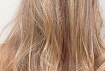 Blond hair honey caramel