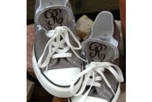 Monogramed converses / Like and follow