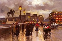 Paris by Edouard Leon Cortes / Paris in paintings of Edouard Leon Cortes