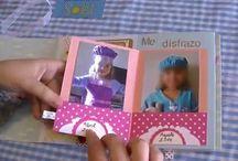 Albumes de fotos scrapbook / Creaciones de distintos tipos de albumes de fotos utilizando distintas técnicas de scrapbook.