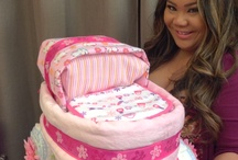 Wenbe's Diaper Cakes / Diaper Cakes perfect for babyshower gifts or center pieces/decoration.