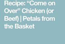 """""""Come on Over"""" Recipes"""
