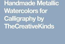 The Creative Kinds Handmade Watercolors / Handmade metallic watercolors and calligraphy supplies. The Creative Kinds