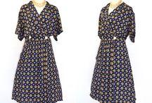 Vintage dresses / wonderful vintage Dressedsby the Etsy Teamlove members