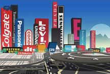 brandscapes / Cities as brandscapes, buildings as advertisements and destinations.