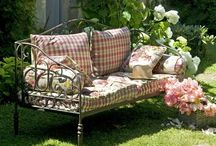 Benches / A collection of benches, some for the home, some for outdoors, and some just decorative. / by Angela Thompson