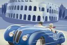 Races, Rallyes, Challenges, Expositions, Dressages, Regattas / Old, Vintage, Retro - Posters and Illustrations
