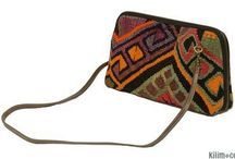 Kilim Bags / Bags made with vintage kilims which makes them one-of-a-kind.