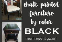 Painted furniture black