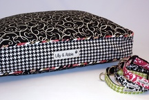 Stylish Dog Beds / These beautiful #customdogbeds were designed by my clients.  All the custom dog beds are unique and fun.  Try your hand at #designingyourcustomdogbed.