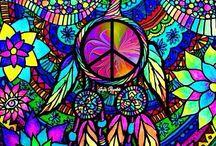 Peace, Hippie Designs
