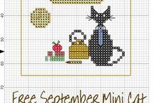 календарь cross stitching