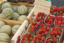 Provence Markets / strawberries and melons; two of Provence's best produce