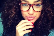 Glasses with curly