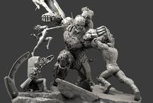 Comic Statue