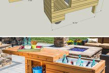 Wooden Outdoor Bar Kitchen