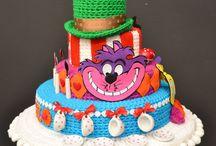 Horgolt torta