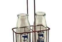 Vintage Milk Bottles / by Kathy Bernsen