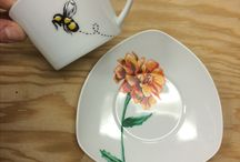 Mad M. Oiselle Sets / Hand painted, one-of-a-kind kitchenware sets