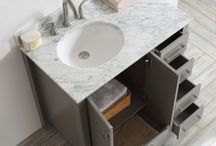 Single Sink Bathroom Vanities / No, we don't need more bathroom storage, said no one. Ever. These single basin vanities offer plenty of storage options and style for miles.
