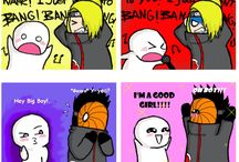 Lol akatsuki / this made my day. i cant choose one member of akatsuki that i love so much.. why they're all so fabulous.