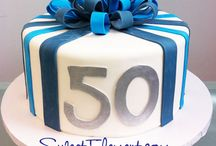 Dads 50th birthday cake ideas