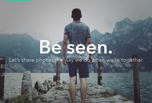Be seen / Let's share photos the way we do when we're together.