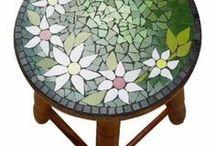banco de mosaico