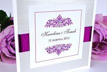 Zaproszenia ślubne - Fiolet / Piękne zaproszenia i dodatki ślubne w kolorze fioletu.