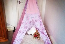 Children's teepees / Custom made teepees for your children's bedrooms, play areas or wherever you wish to put them! Great for hide and seek, bedtime stories and just a general area to have some downtime