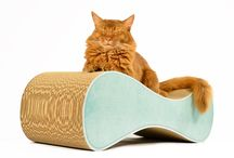 design cat scratcher / cat-on cat furniture - handmade in Germany! Discover the unique and beautiful design cardboard cat scratching furniture from Berlin