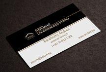Névjegyek / Általam készített névjegykártyák