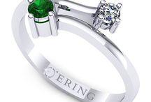 Inele de logodna cu smarald / Inele de logodna cu smarald si diamante