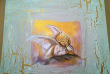 MINUN MAALAUKSET/ MY PAINTING / Omia töitäni akryylillä maalattuna.