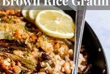 Rice and Grains / Side dishes or main entrees featuring rice or grains.