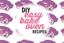 """Easy Bake Oven DIY and Other Ideas / My daughter loves to be busy and enjoys """"cooking"""". She has had an Easy Back Oven (EBO) or as some call it Easy Bake Ultimate Oven. We don't love the pre-packaged items flavor or price so we created a board for ideas."""