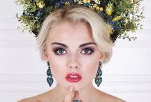 цветы и макияж