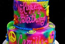 tye dyed cakes / by April Sesser